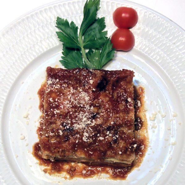 1054-LASAGNES VÉGÉTARIENNES Plats cuisinés à emporter