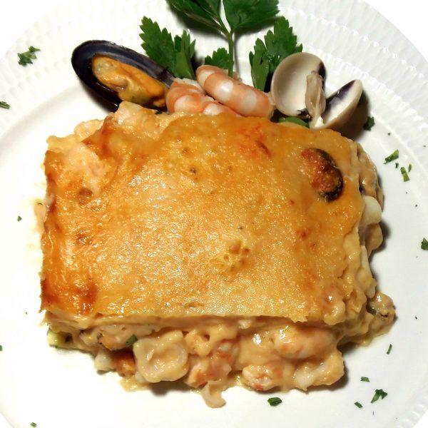 1056-LASAGNES AUX FRUITS DE MER Plats cuisinés à emporter